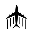 airplane icon on white background airplane travel vector image