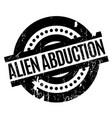 alien abduction rubber stamp vector image