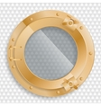 antique brass porthole on a transparent background vector image