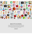 Back to School icon background vector image vector image