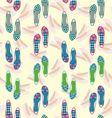 background of shoes beautiful collection vector image vector image