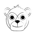 bear cute cartoon vector image vector image