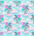 beautiful fairy seamless pattern with cute flying vector image vector image