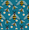 bee animal seamless pattern background wallpaper vector image