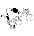 Cartoon cow with calf vector image vector image