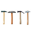 color image a set hammers on a white vector image vector image