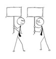 conceptual cartoon of two arguing businessmen vector image vector image