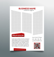 Creative minimalistic business flyer template vector image vector image
