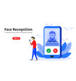 face recognition technology concept modern flat vector image