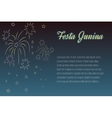 Hand drawing Festa Junina fireworks on night time vector image
