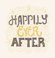happily ever after vector image