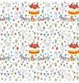 happy birthday card cartoon funny bird vector image