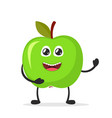 happy smiling apple funny fruit concept flat vector image vector image