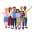 happy young people cartoon vector image