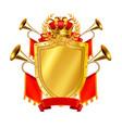 heraldic realistic design concept vector image vector image