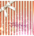 holiday background with a white bow Merry vector image