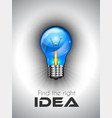 Idea high quality lamp Icon to use for vector image