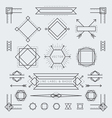 Line and Geometric Labels and Badges Monochrome vector image