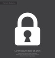 lock premium icon white on dark background vector image vector image