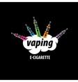 logo electronic cigarette vector image vector image