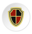 medieval shield icon circle vector image vector image