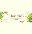 merry christmas and happy new 2021 year poster vector image