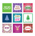 merry christmas and happy new year 2020 posters vector image