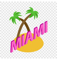 miami isometric icon vector image vector image