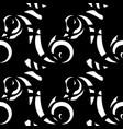 monochrome pattern of white doodle and curls in vector image vector image