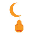 moon with an arabic lamp icon vector image
