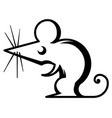 mouse stencil vector image vector image