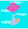 Newborn Fly with Balloon vector image