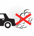 no idling engine off sign symbol vector image vector image