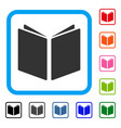 open book framed icon vector image vector image