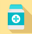 pills box for pet icon flat style vector image