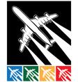 plane symbol vector image