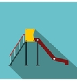 Playground slide flat icon vector image vector image