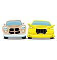 retro car and modern car vector image