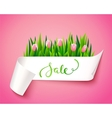sale label with flowers vector image vector image