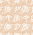 Seamless pattern with white flowers on a beige vector image vector image