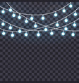 set of overlapping glowing string lights vector image