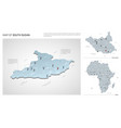 set south sudan country isometric 3d map south vector image vector image
