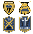 set vintage police law enforcement badges vector image