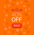 special offer concept forty percent off vector image