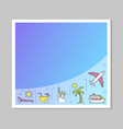 summer vacation social media banner poster posts vector image