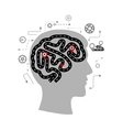 Thought processes of a human brain vector image vector image