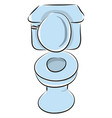 toilet hand drawn design on white background vector image