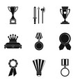 top prize icons set simple style vector image vector image