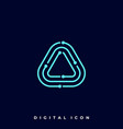 triangle circuit template vector image vector image