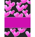 Valentine Day abstract background wit pink hearts vector image vector image